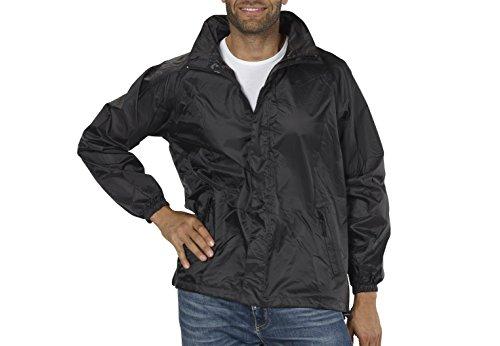 Regen-Jacke Funktions-Jacken für Damen und Herren von Fifty Five – Wellington black XL – wasserdichte Outdoor-Bekleidung