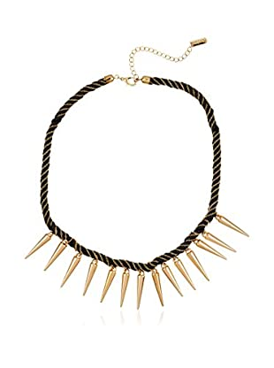 Pepe Jeans London Collar Black&Gold Necklace With Points