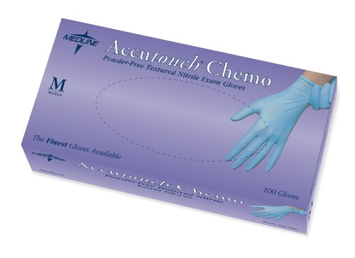 Accutouch Chemo Powder-Free, Latex-Free, Nitrile Exam Gloves, SM (10 boxes)