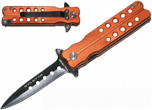 "3"" Royal Vented Mini Spring Assisted Folding Knife - Orange"
