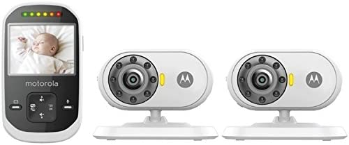 Motorola MBP25-2 Wireless Video Baby Monitor LCD Color Screen and Two Cameras 24 Inch