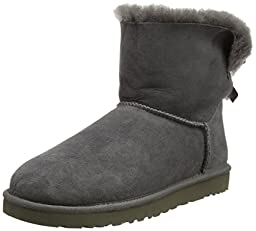 UGG� Australia Women\'s Mini Bailey Bow Grey 6 M