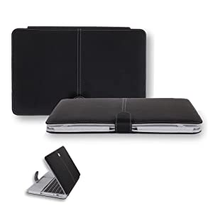 CaseCrown Book Cover Clip On Case (Black) for 13 Inch Apple MacBook Air
