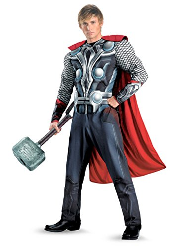 Adult The Avengers Thor Deluxe Costume And Hammer Bundle