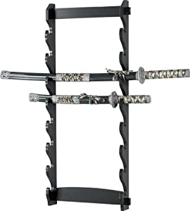 BladesUSA WS-8W Sword Stand 8-Tiers Wall Mount Sword Stand by BladesUSA