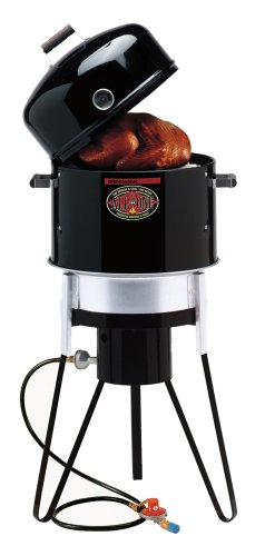 Brinkmann 810-5000-0 All-In-One Outdoor Cooker, Black
