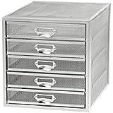 Osco Mesh 5 Sorter Drawer - Silver