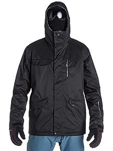 Quiksilver Men's Raft 10K Snow Jacket - Black, Small