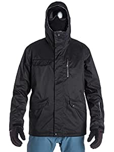 Quiksilver Men's Raft 10K Snow Jacket - Black, Small