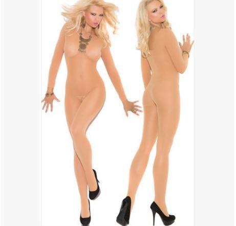 VU*LK Donna pigiama girocollo manica lunga onesies trasparente a partire conjoined calzino pigiama , white ,