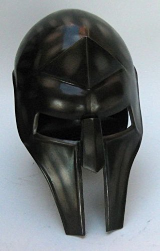 Roman Gladiator-Style Helmet in Blackened Steel - Wearable Armour Costume