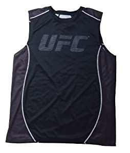 UFC Men's Black TKO Sleeveless Top (Small)