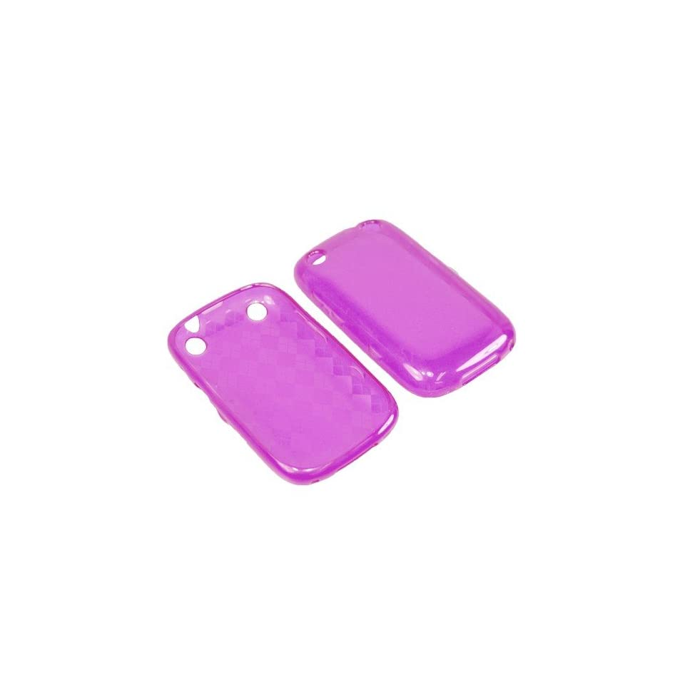 Eagle TPU Sleeve Gel Cover Skin Case for Boost Mobile, Verizon BlackBerry Curve 9310, 9320  Purple Checker