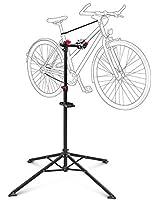 Relaxdays Pied d'atelier pour vélo support de réparation entretien réglable Noir 105 -190 cm