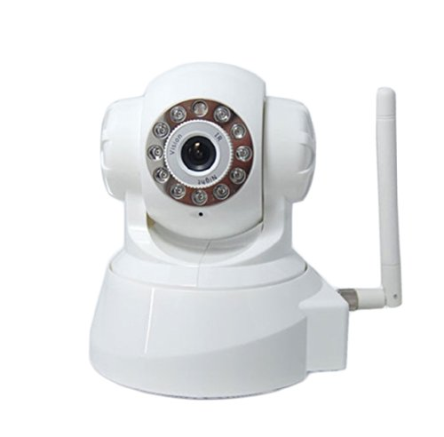 Luowice Wireless Ip Pan/Tilt/ Night Vision Internet Surveillance Camera Built-In Microphone With Phone Remote Monitoring Support(White) front-221929