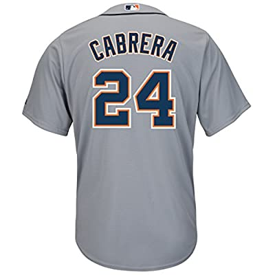 Detroit Tigers Miguel Cabrera Majestic Gray Road Cool Base Jersey