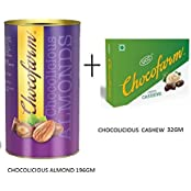 COMBO Offer Chocofarm CHOCOCLATE CONFECTION COATED(COVERED) ROASTED CASHEW AND ALMOND (Dry Fruit Chocolate)
