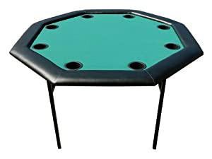"""48"""" Octagon Poker Table with Folding Legs in Green"""
