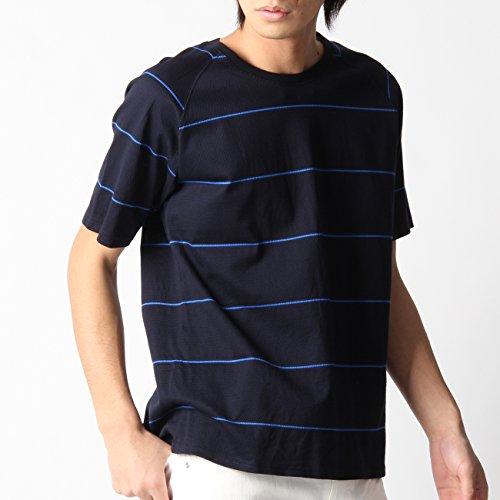 (ボイコット)BOYCOTT メッシュボーダーTシャツ ネイビー(393) 02(M)