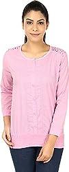 Yashasvi Women's Cotton Top (Pink, M)