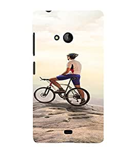 PrintVisa Sports Cycling Adventure Design 3D Hard Polycarbonate Designer Back Case Cover for Nokia Lumia 540