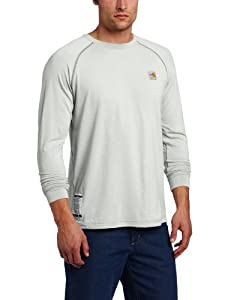 Carhartt Men's Flame Resistant Force Long Sleeve T-Shirt, Light Gray, X-Large