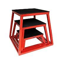 "Plyometric Platform Box Set- 6, 12, 18"" Red"