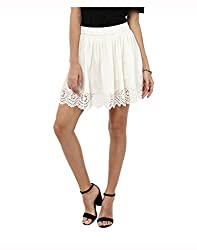 Yepme Women's White Polyester Skirts - YPWSKRT5146_XL