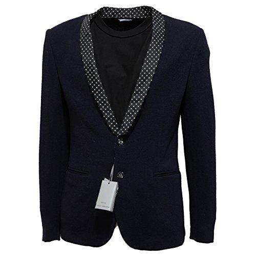 9123L giacca uomo blu DANIELE ALESSANDRINI lana giacche jackets coats men [48]