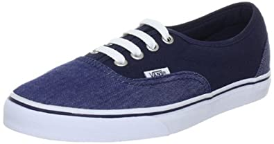 Vans LPE Chambray Canvas Shoes - Blue - UK 3