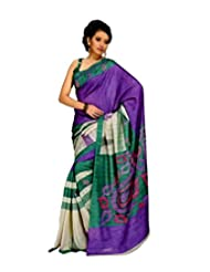 Saran's Get Ready For That Stunning Look With Printed Art Silk Exclusive Designer Saree - B00PXTD0LO