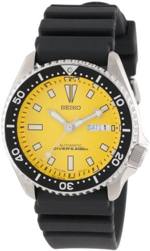 Seiko Men's SKXA35 Stainless Steel Automatic Dive Watch h