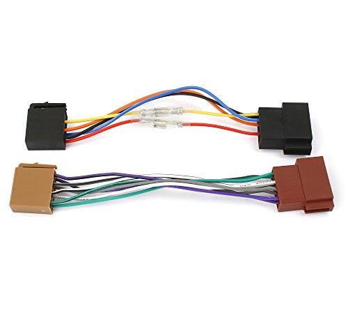 Autoradio-Adapterkabel-Universal-ISO-Buchse-auf-ISO-Stecker-Verlngerung-Klemme-1530-variabel-steckbar-Radio-Kabel-Adapter-Ideal-fr-AutoLKWKFZHobby-4686W