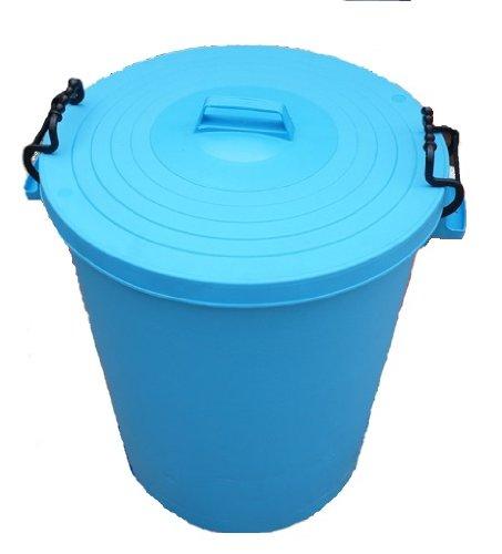 110 Litre cyan / light blue Bin/Refuse Bin With Lockable Lid (made in the uk)