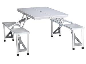 Tristar Table de pique-nique pliante valise en aluminium 4 places Modèle TA-0820