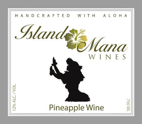 Island Mana Hawaiian Tropical Pineapple Wine - Off Dry 750 Ml