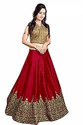 Fashion Hub Women's cotton silk lehnga choli red (rk_073)