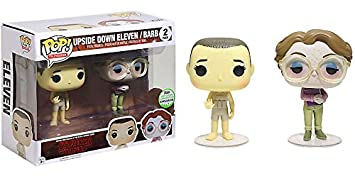 Pack Stranger Things Télévision Funko POP! Figurine Eleven & Barb Upside Down ECCC 2017