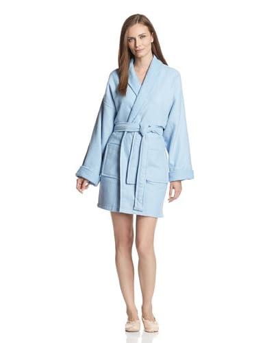 Aegean Apparel Women's Solid Woven Waffle Terry Shawl Collar 36″ Robe