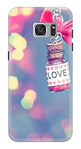 Hard Printed Back Cover for Samsung S7 (Multicolor)