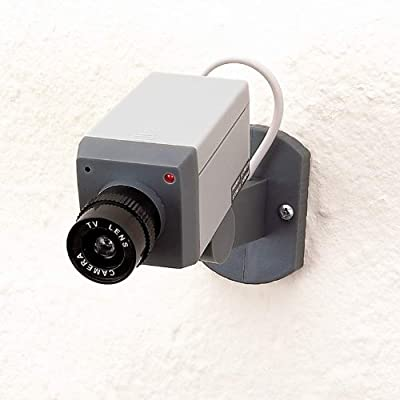 Realistic Looking Mock Surveillance Camera w/Sensor-Motion Detection & Swivel Action