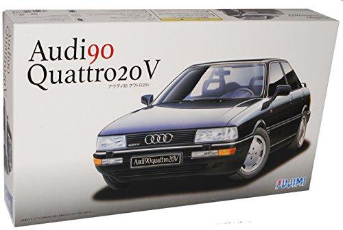 Audi-80-B3-90-Quattro-20V-Limousine-Schwarz-1987-1991-Kit-Bausatz-124-Fujimi-Modell-Auto-Modell-Auto