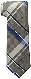 Michael Kors Men\'s Michael Weekender Plaid Tie, Taupe, One Size