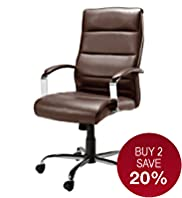 Office Dark Brown Leather Chair