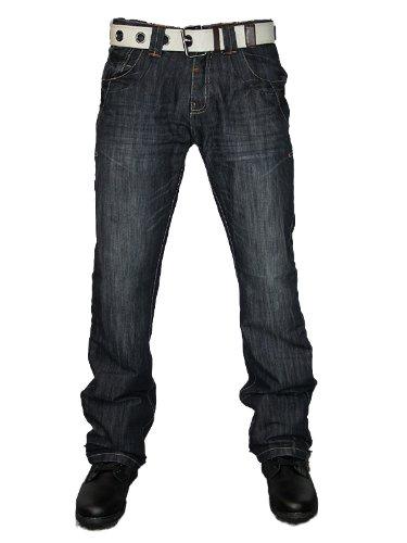 New Mens Tint Wash Dry Wash SH-836 Designer Straight Leg Boot Cut Denim Jeans W28 L32