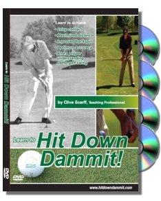 Hit Down Dammit! Golf Instruction DVDs