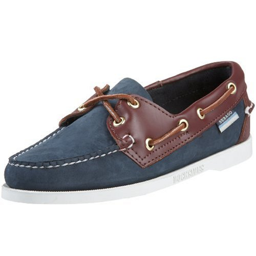 Sebago Women's Spinnaker Boat Shoe,Blue/Brown,8 M US