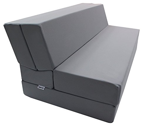 【2016 NEW HIT】Merax Convertible 5-Folding Foam Sleeping Mattress Sofa Bed and Floor Mat , (Full(LxWxH) :74in.x54in.x5in., Grey )