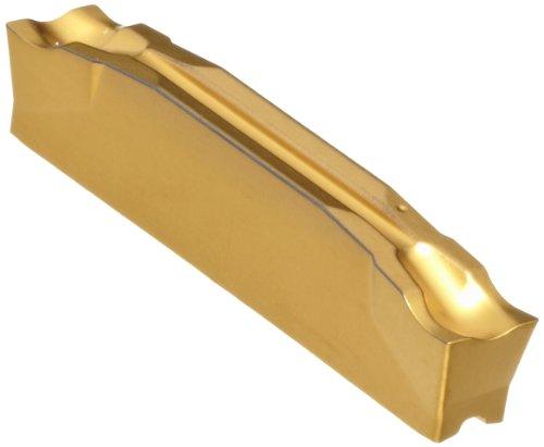 Sandvik Coromant CoroCut 2-Edge Carbide Parting Insert, GC2135 Grade, Multi-Layer Coating, CM Chipbreaker, 2 Cutting Edges, L123E2-0200-0502-CM, 0.0079