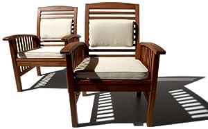 Strathwood Gibranta All-weather Hardwood Arm Chair Set Of 2 by Strathwood